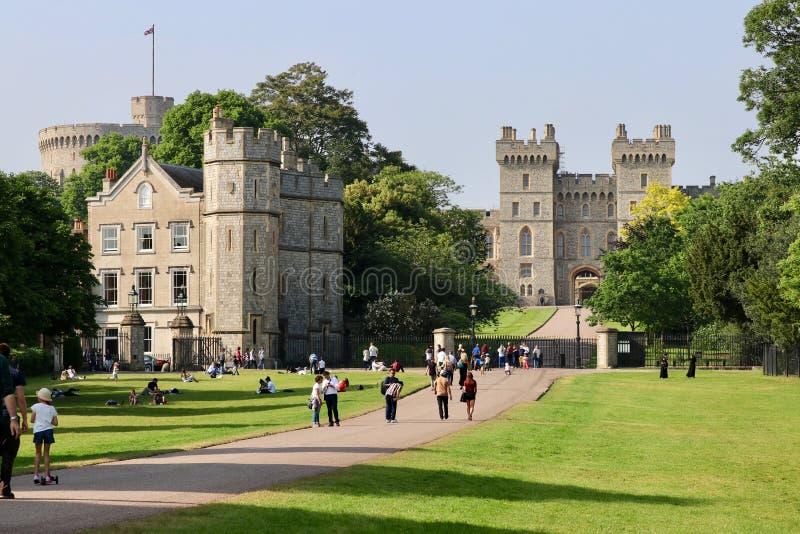 Windsor Castle in London, Großbritannien lizenzfreies stockbild