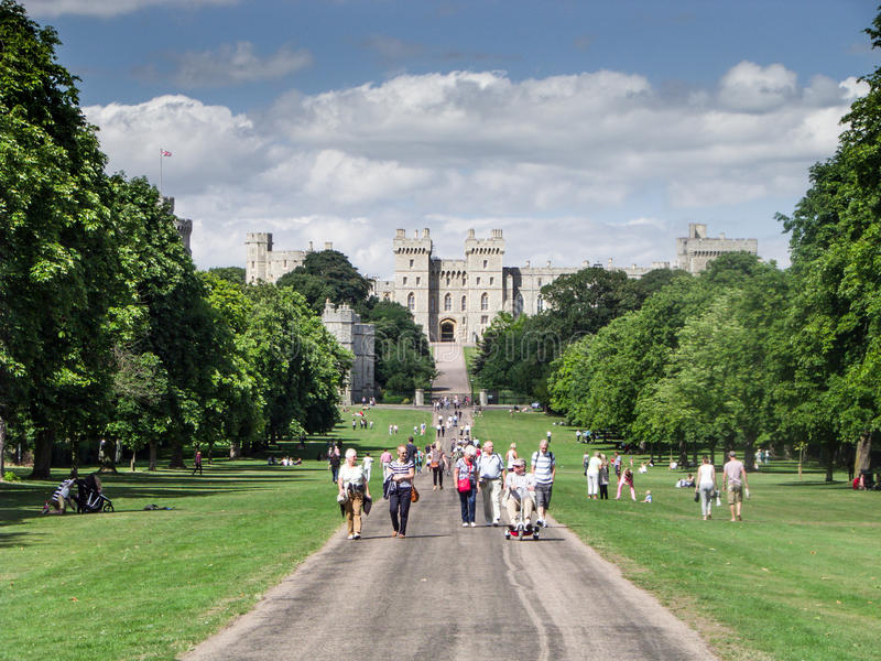 Windsor Castle - The Long walk stock photography