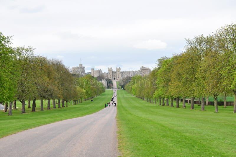 Windsor castle (long walk view), UK stock photo