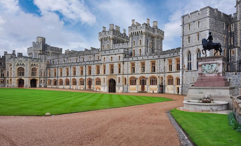 Windsor Castle near London, UK royalty free stock photos