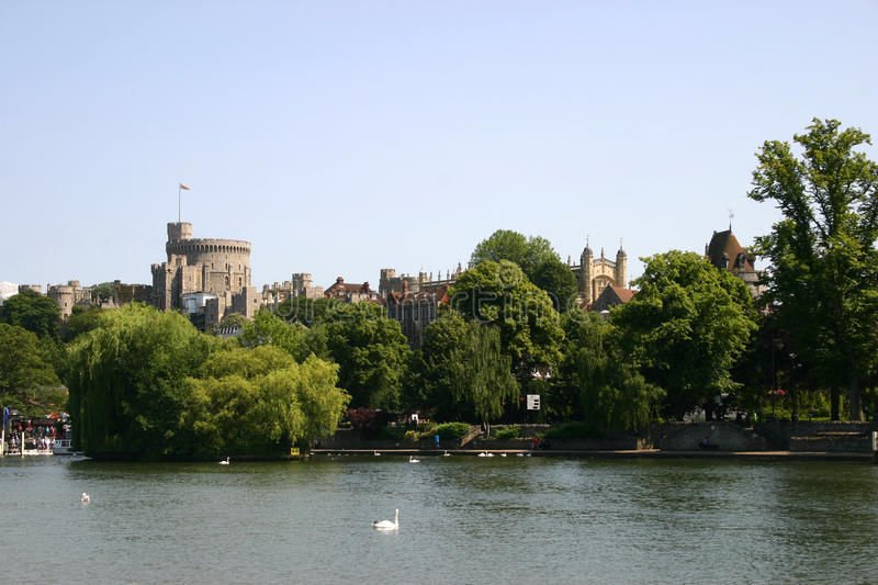 Windsor castle. Photo of river thames with Windsor castle in the background royalty free stock images