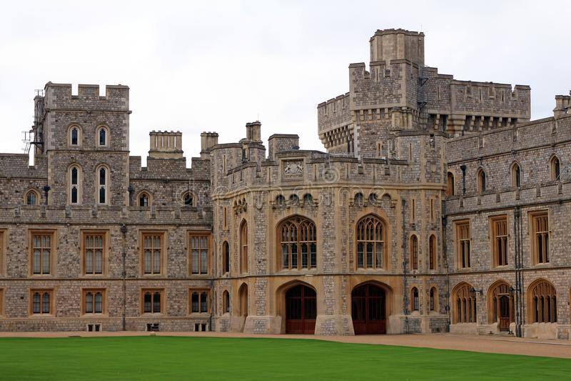 Windsor Castle - residenza reale immagini stock