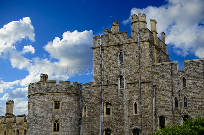 Windsor Castle. In the town of Windsor England royalty free stock images