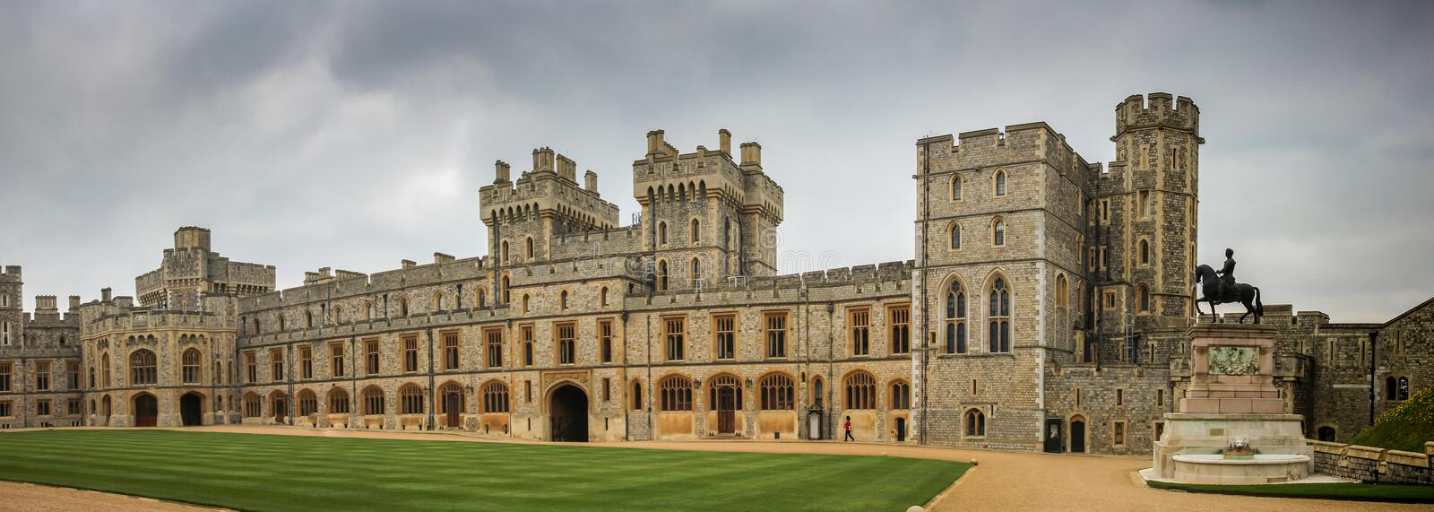 Windsor Castle Upper Ward Quadrangle photos stock
