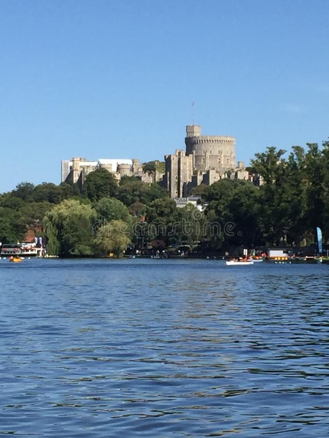 Windsor Castle. View from River Thames stock photo