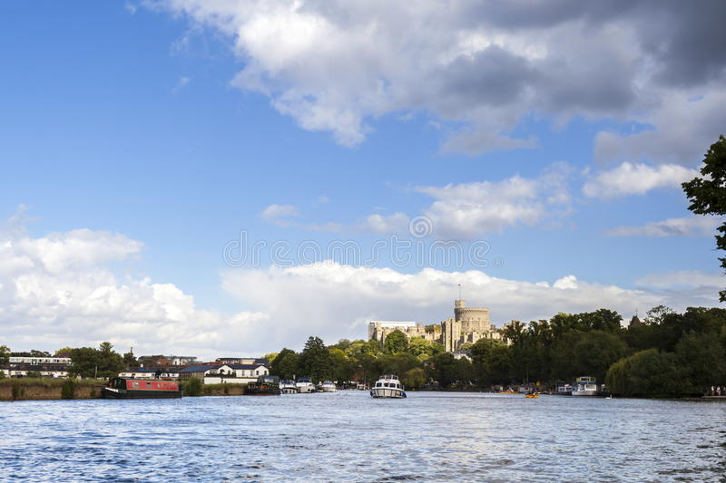Windsor Castle. Viewed from the Thames stock photography