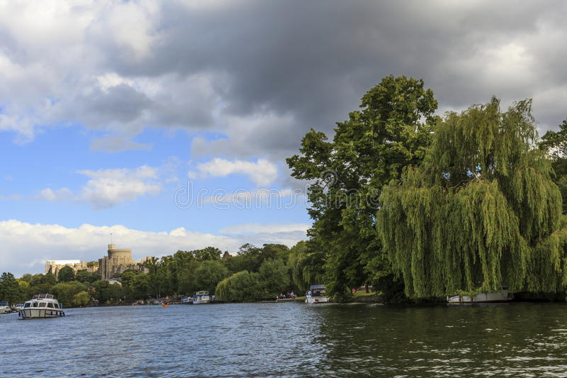 Windsor Castle. Viewed from the Thames royalty free stock images