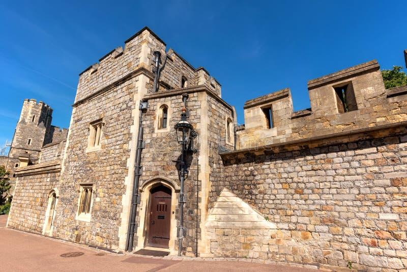 Windsor castle walls in England, United Kingdom. stock images
