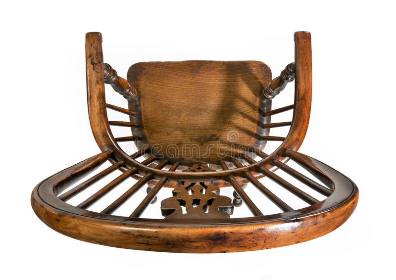 Antique Windsor Chair Isolated Stock Photo Image Of