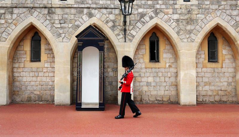 WINDSOR, ENGELAND - 29 AUGUSTUS 2017: Windsor Castle Windsor Castle is een koninklijke woonplaats in Windsor in de Engelse provin stock fotografie