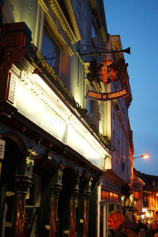 British pub scene. stock image