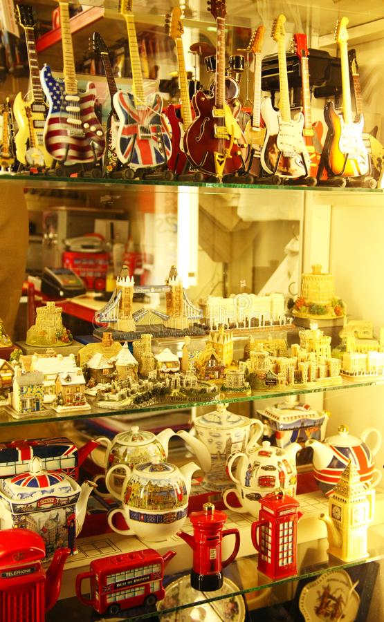 Souvenir in shop scene. stock image