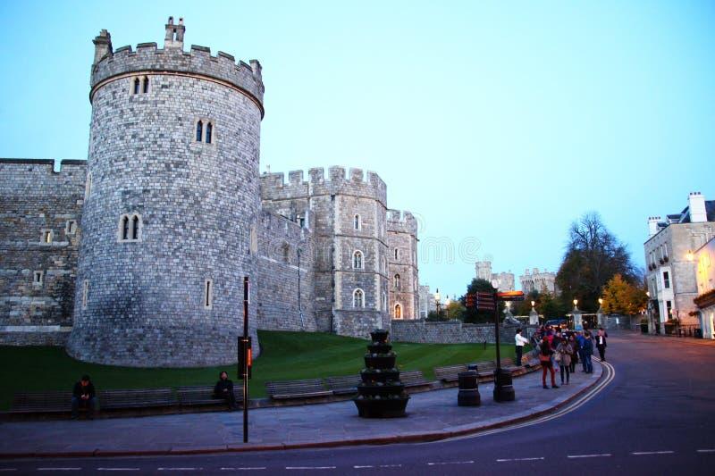 Windsor castle scene. stock photos