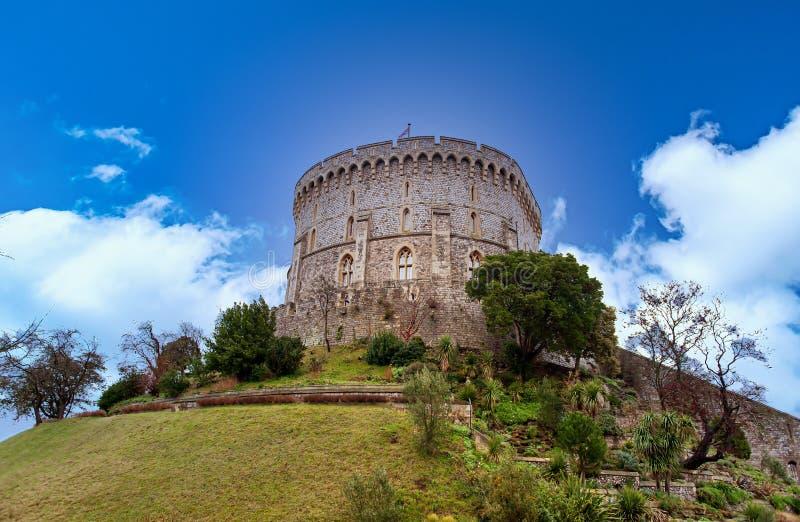 WINDSOR, ENGLAND 31. Dezember 2014: Architektonische Fragmente des mittelalterlichen Windsor Castle Windsor Castle ist ein königl stockfoto