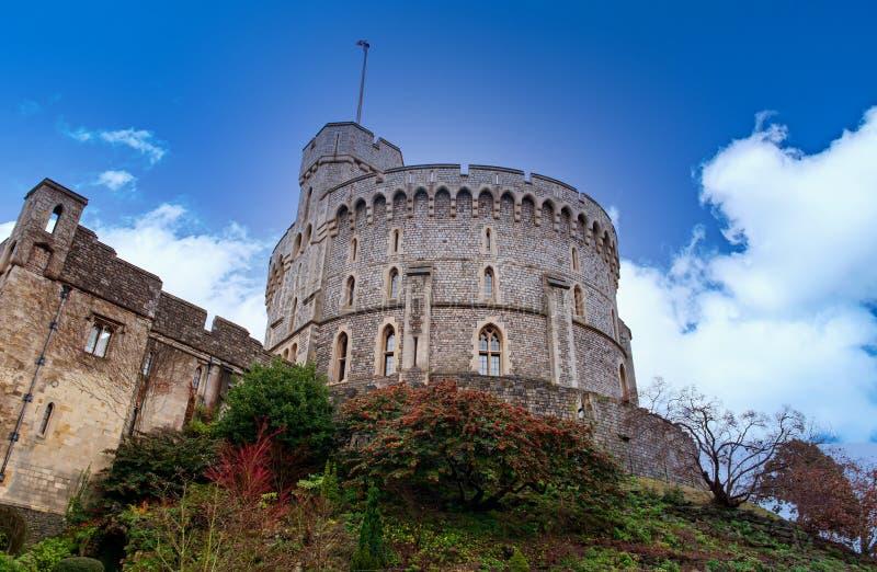 WINDSOR, ENGLAND Dezember 2014: Architektonische Fragmente des mittelalterlichen Windsor Castle Windsor Castle ist ein königliche stockbild