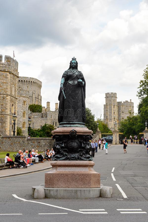 Windsor, England, United Kingdom. WINDSOR, ENGLAND - JULY 21, 2016: Queen Elisabeth II in Windsor,a town in the Royal Borough of Windsor and Maidenhead in royalty free stock photo