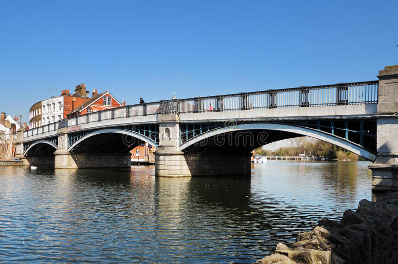 Windsor and Eton Bridge over the River Thames royalty free stock image