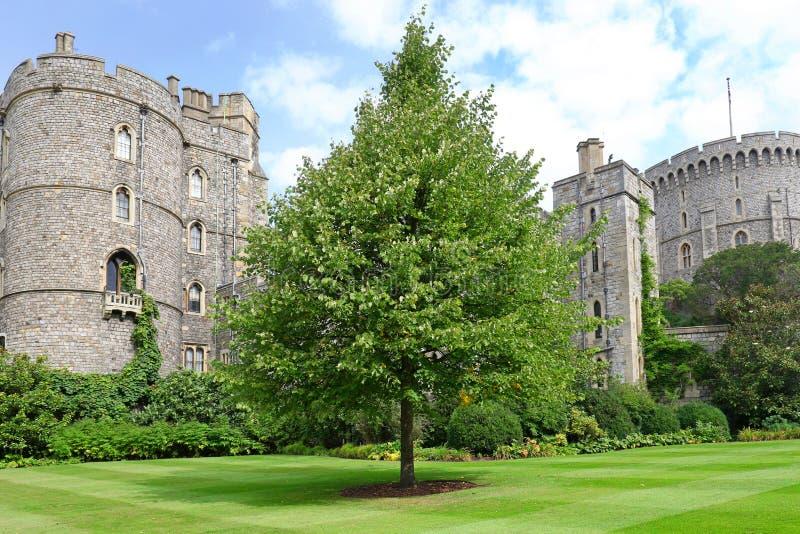 Windsor Förenade kungariket - Augusti 29, 2017: Sikten av medeltida Windsor Castle Windsor Castle är en kunglig uppehåll på Winds royaltyfri fotografi