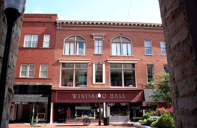 Windsor Hall w Historycznym W centrum Cumberland, Maryland fotografia royalty free