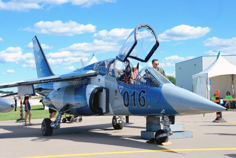 WINDSOR, KANADA - SEPT. 10, 2016: Ansicht des kanadischen Militärjets lizenzfreie stockfotografie