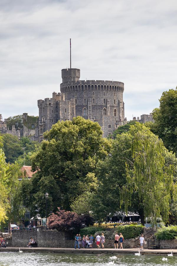 WINDSOR, MAIDENHEAD & WINDSOR/UK - JULY 22 : View of Windsor Castle at Windsor, Maidenhead & Windsor on July. 22, 2018. Unidentified people royalty free stock image