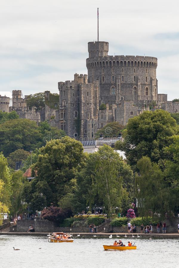 WINDSOR, MAIDENHEAD & WINDSOR/UK - JULY 22 : View of Windsor Castle at Windsor, Maidenhead & Windsor on July. 22, 2018. Unidentified people royalty free stock photo