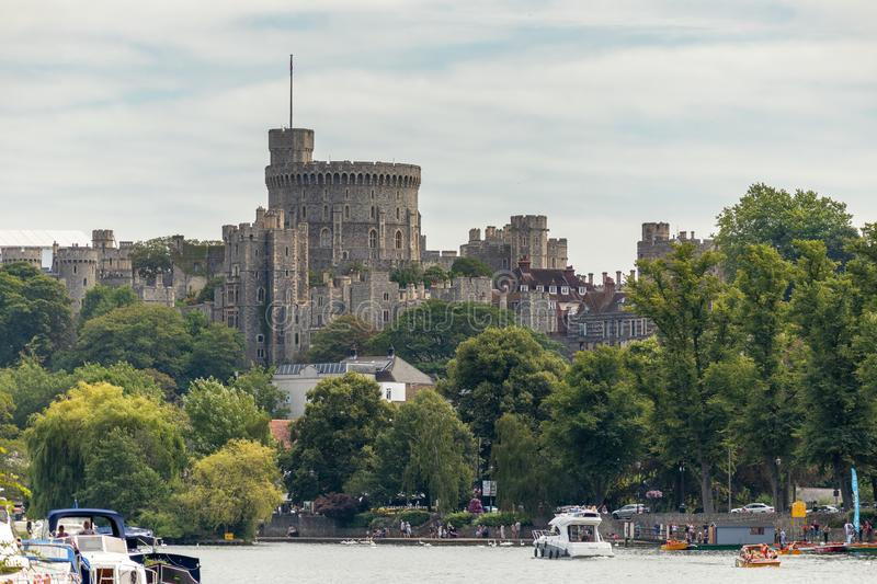WINDSOR, MAIDENHEAD & WINDSOR/UK - JULY 22 : View of Windsor Castle at Windsor, Maidenhead & Windsor on July. 22, 2018. Unidentified people stock photos