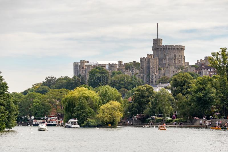 WINDSOR, MAIDENHEAD & WINDSOR/UK - JULY 22 : View of Windsor Castle at Windsor, Maidenhead & Windsor on July. 22, 2018. Unidentified people stock photography