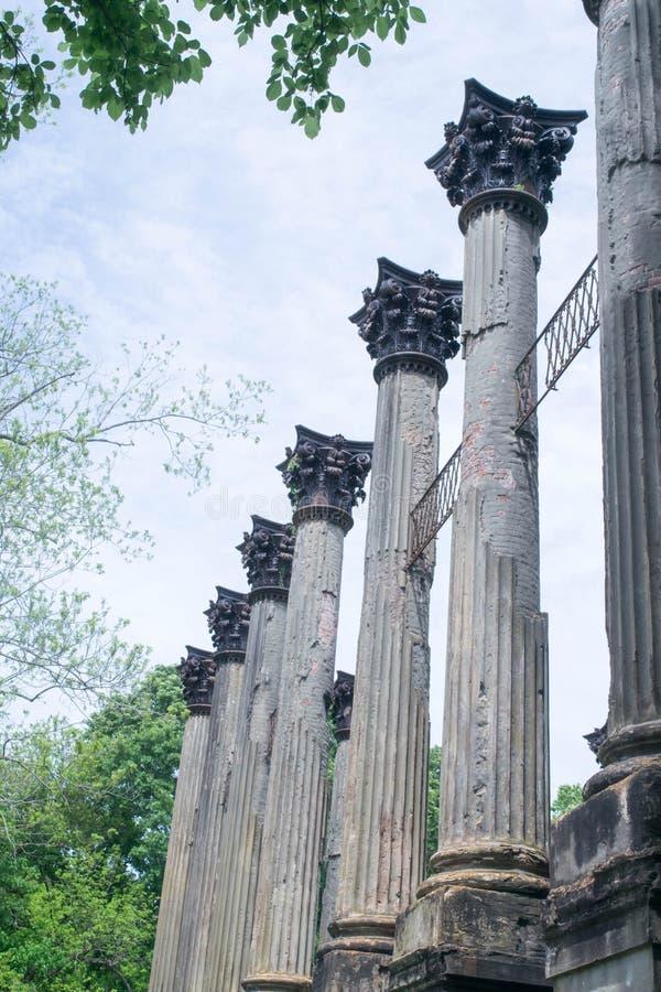 Windsor Ruins perto do porto Gibson, Mississippi fotos de stock