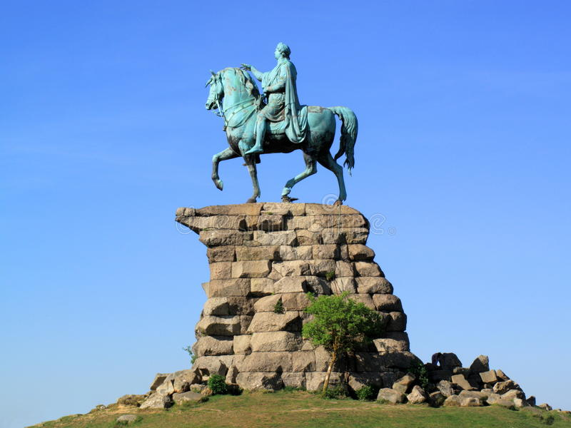 Windsor Statue ?kupfernen Pferds? des George-III Schloss lizenzfreies stockbild