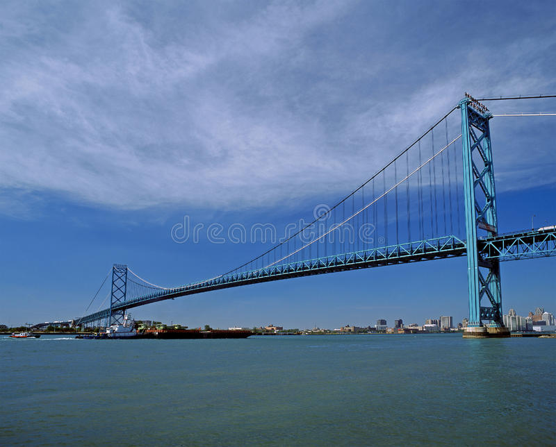 windsor suspention του Οντάριο γεφυρών στοκ φωτογραφίες με δικαίωμα ελεύθερης χρήσης