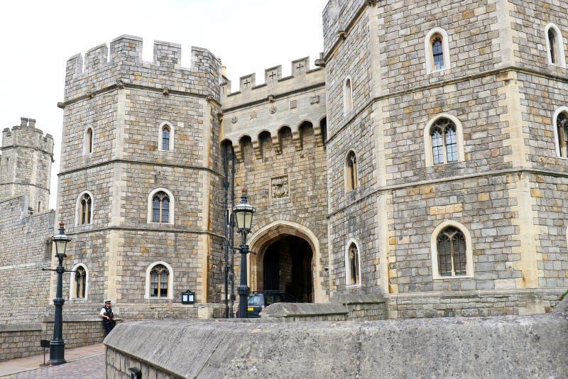 Windsor, United Kingdom - Aug 29, 2017: View of Medieval Windsor Castle Windsor Castle is a royal residence at Windsor, Eng. Windsor, United Kingdom - Aug 29 stock photos