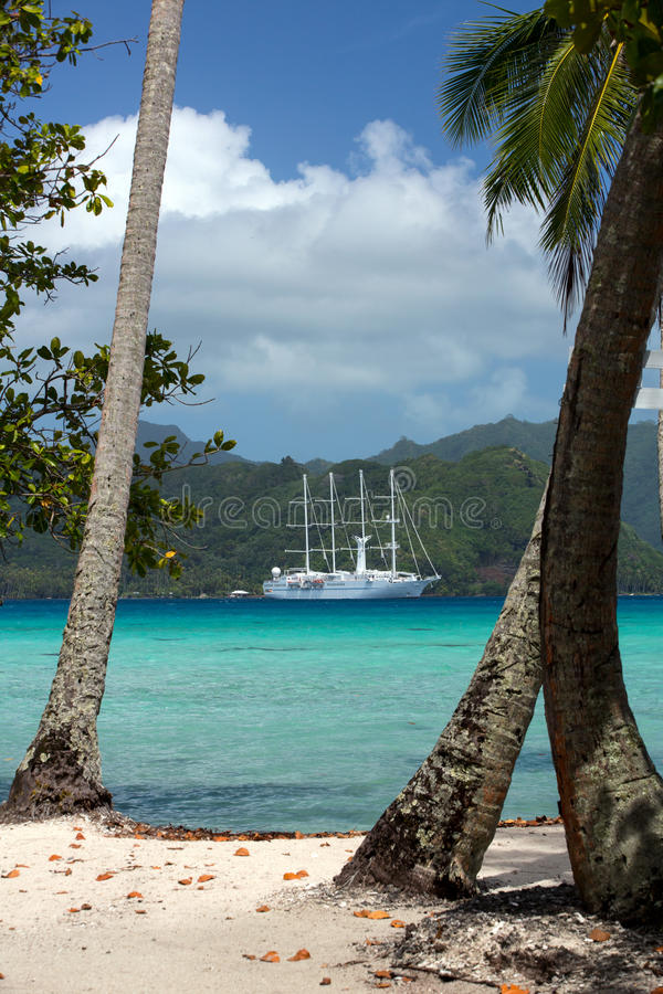 Windstar Ταϊτή στοκ φωτογραφία με δικαίωμα ελεύθερης χρήσης