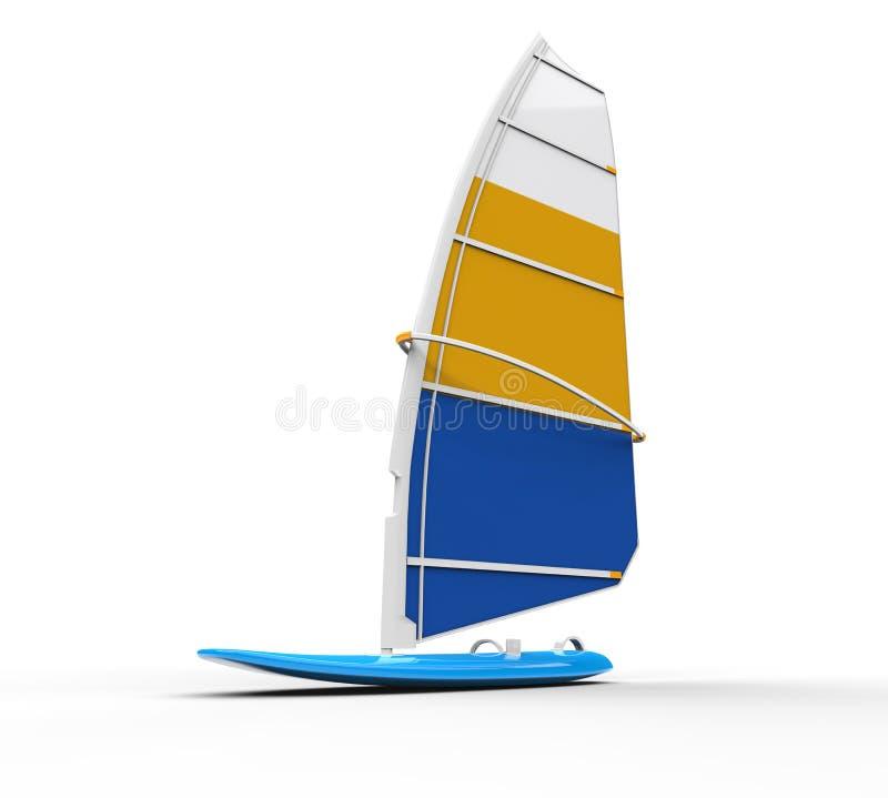 Windsurf доска снятая на белизне иллюстрация вектора