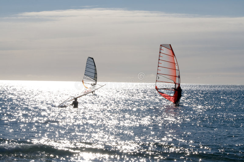 Windsurf. At Lista, Vest-Agder, Norway stock images