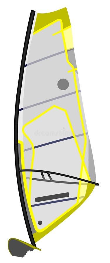 Windsurf vector illustratie