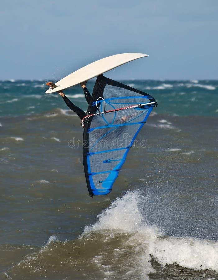 Windsurf Acrtion extremo imagem de stock