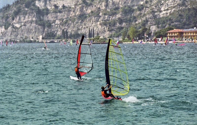 Windsurf Garda stock foto