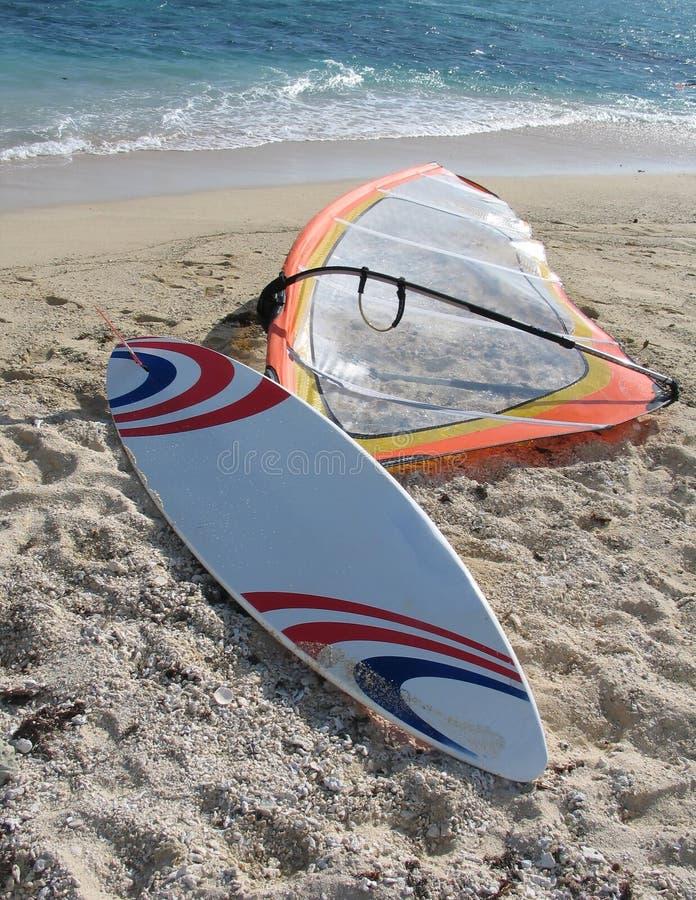 Windsurf la tarjeta fotos de archivo libres de regalías