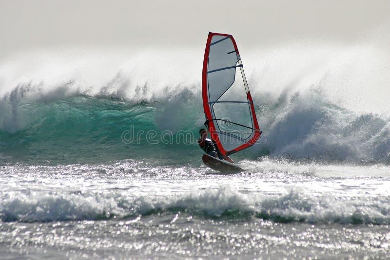 Windsurf les las Amériques photographie stock libre de droits