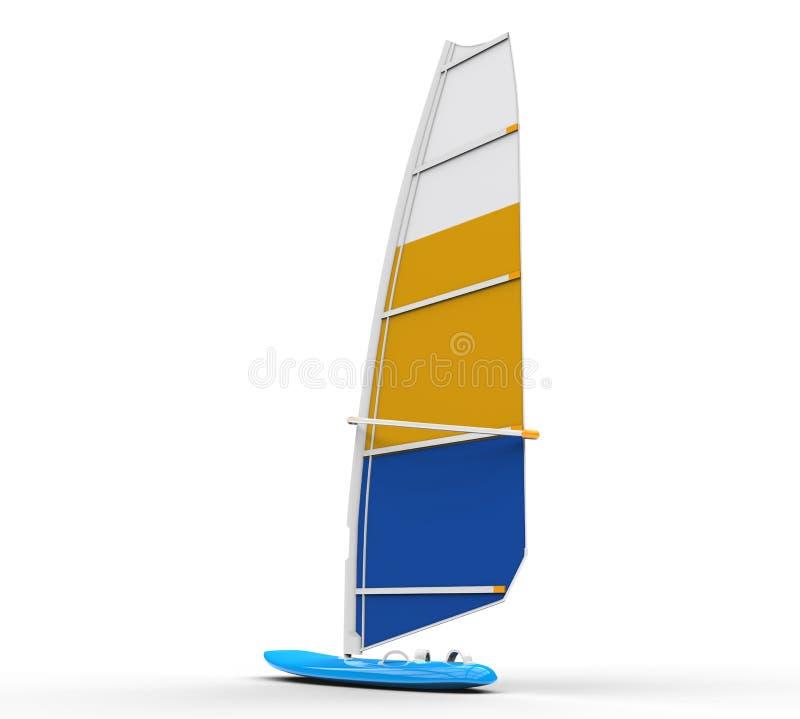 Windsurf a placa - vista traseira imagens de stock