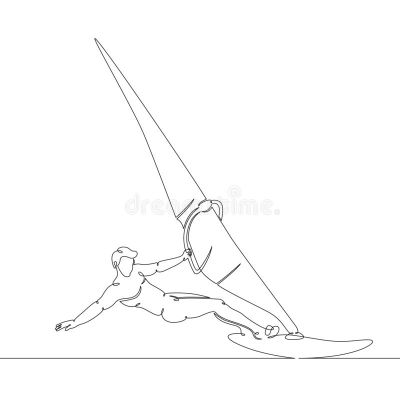 Windsurf, sailboat, πανί στον πίνακα ελεύθερη απεικόνιση δικαιώματος