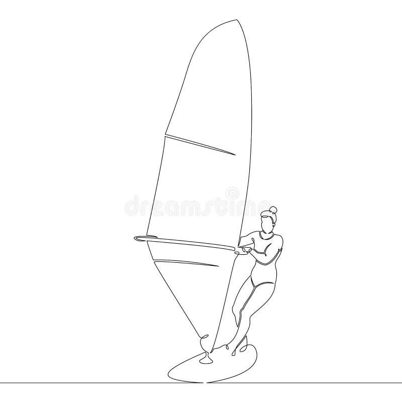 Windsurf, sailboat, πανί στον πίνακα απεικόνιση αποθεμάτων