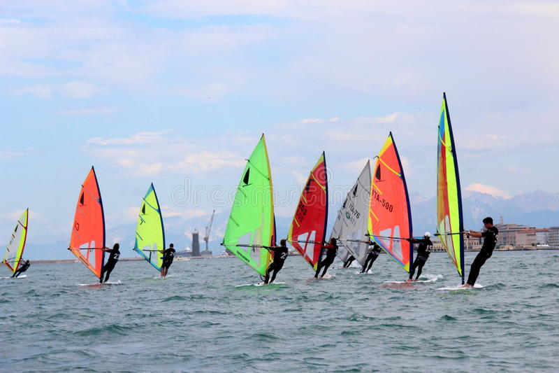 Windsurf, windsurfer klasse stock fotografie