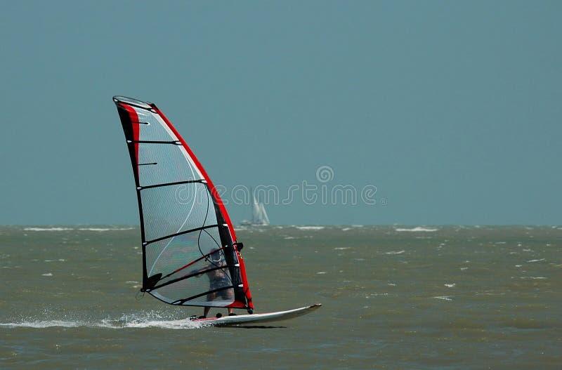 windsurfer żaglówki fotografia stock
