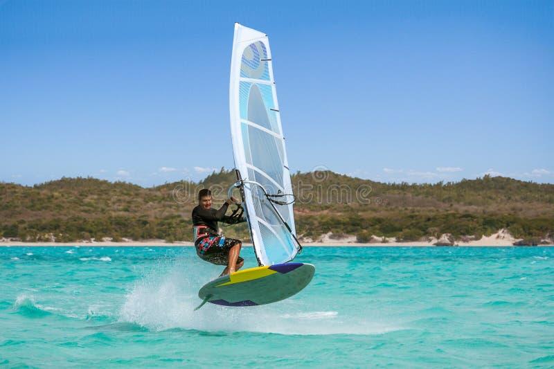 windsurfer photographie stock