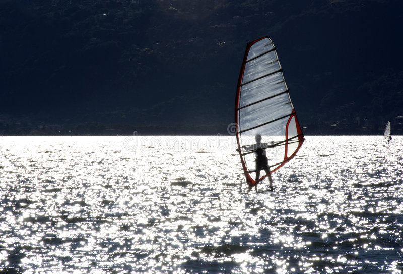 Windsurfer royalty free stock photography