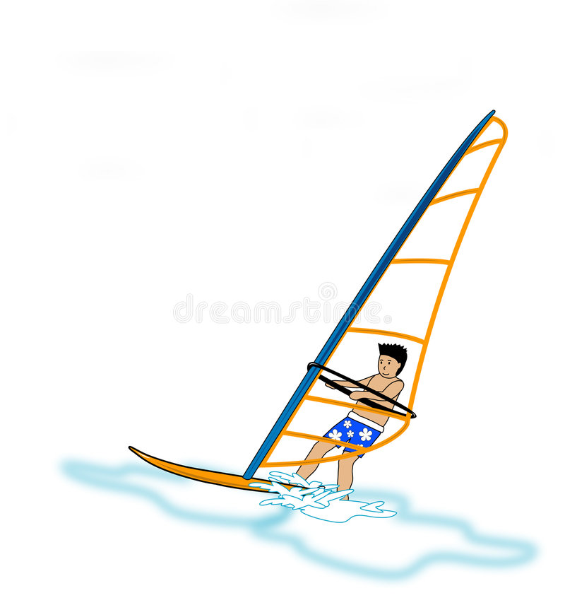 Windsurfer stock illustratie