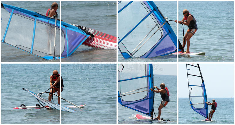 Download Windsurfer in action stock photo. Image of water, movement - 13093954