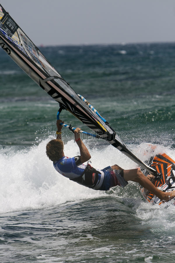 Free Windsurfer Davy Scheffers In Competition PWA Stock Images - 22057684